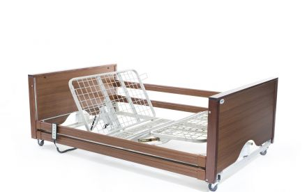 Alerta Encore Bariatric Low Bed Walnut (1)